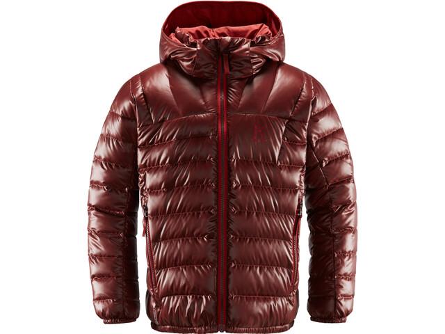 Haglöfs Bivvy Reversible Capuche Adolescents, maroon red/brick red